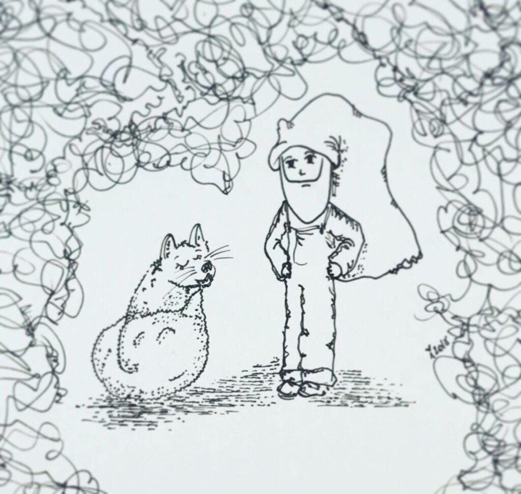 Nisse Bent taler med ræven